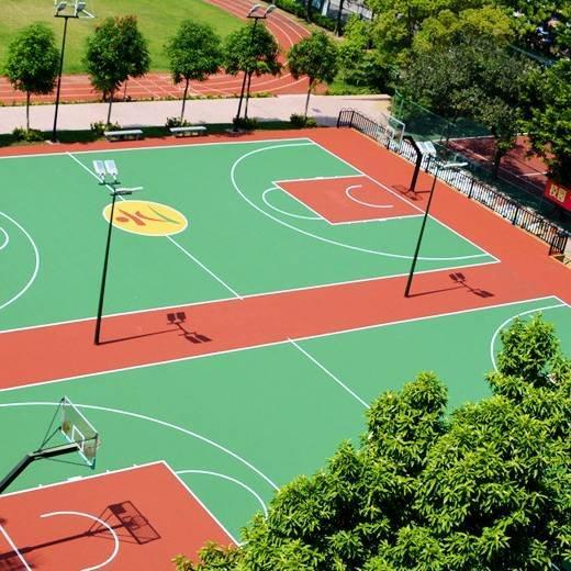 純PU籃球場施工