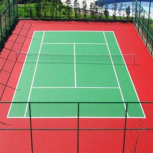 硅PU網球場施工