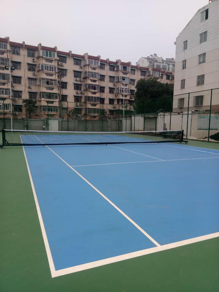 廬江縣體育中心硅pu網球場